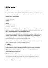 Zuchtordnung des Vereins für Deutsche Spitze