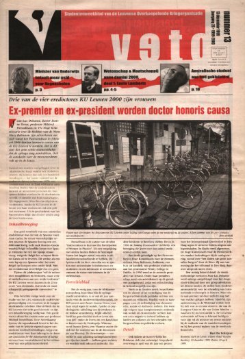 Ex-premier en ex-president worden doctor honoris ... - archief van Veto