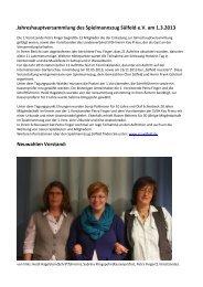 Jahreshauptversammlung des Spielmannszug Sülfeld eV am 1.3.2013
