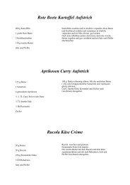 Rote Beete Kartoffel Aufstrich Aprikosen Curry Aufstrich Rucola Käse Crème