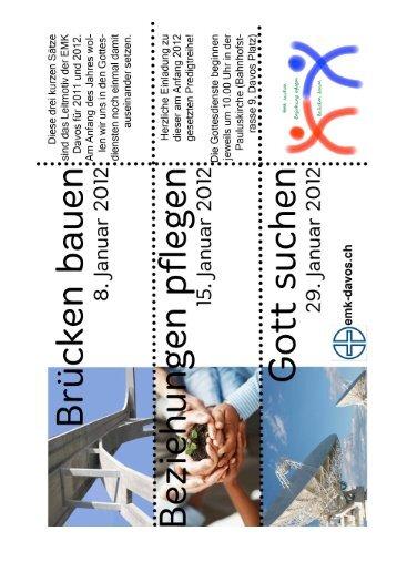 Ganze Predigtreihe Motto 2012 Januar 2012 - EMK - Davos