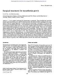 Surgical treatment for myasthenia gravis - Thorax
