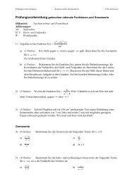 Prüfungsvorbereitung gebrochen rationale Funktionen und ...