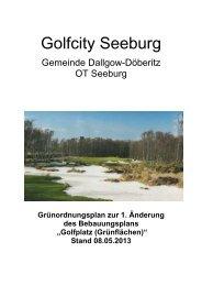 Grünordnungsplan zur 1. Änderung des Bebauungsplans - Seeburg