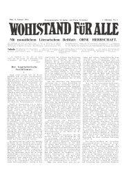 Mit monatlichem Literarischem Beiblatt: OHNE HERRSCHAFT.