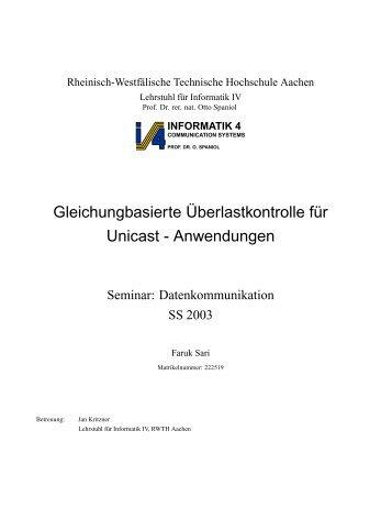 Equation-based Congestion Control for Unicast ... - Informatik 4