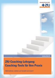 Coaching-Tools für Ihre Praxis - ZFU International Business School
