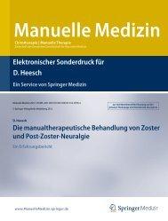 Manualtherapeutische Behandlung von Zoster und ... - Mikropressur