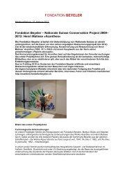 Download Pressetext PDF (59 KB) - Fondation Beyeler