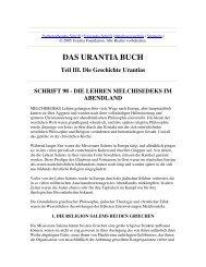 Schrift 98 - Die Lehren Melchisedeks im Abendland