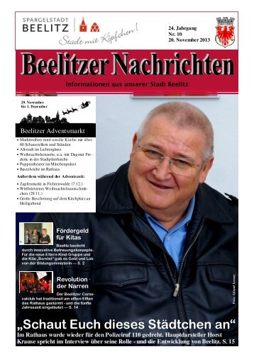 Beelitzer Nachrichten - November 2013