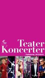 Theater und Konzerte - Programm 2013/ 2014