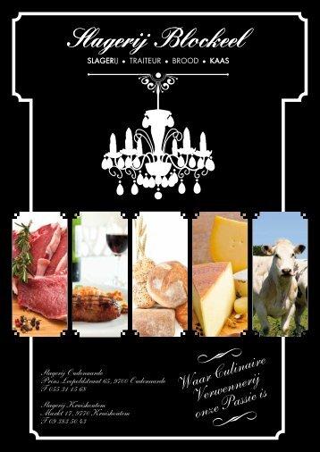 Slagerij Blockeel Culinaire Folder 2014