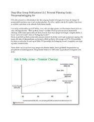 Deep Blue Group Publications LLC Personal Planning Guide: Pensjonsplanlegging for