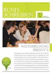 Rundschreiben Nr. 4 / 2013 der Südtiroler Bauernjugend