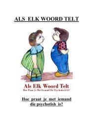 ALS ELK WOORD TELT