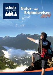 Schulz aktiv reisen Katalog 2013 2014