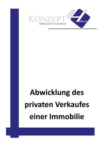Abwicklung des privaten Verkaufes einer Immobilie