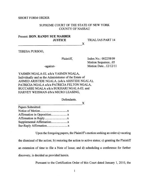 CPY Document - New York State Unified Court System