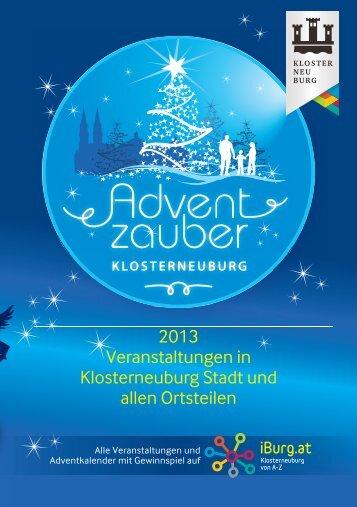 2013 Veranstaltungen in Klosterneuburg Stadt und allen Ortsteilen