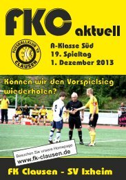 FKC Aktuell - 19. Spieltag - Saison 2013/2014