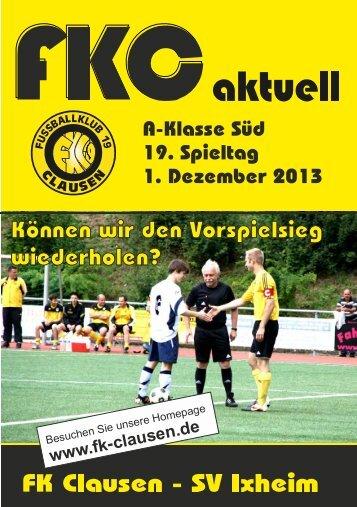 FKC Aktuell - 19. Spieltag 2013/2014