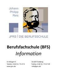 JPRS|Die Berufsschule Friedberg/H.  – Information zur Schulform Berufsfachschule (BFS)
