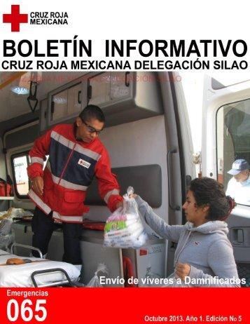 Edición 5 boletín mensual de Cruz Roja Mexicana Delegación Silao
