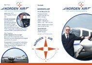 Norden-Air, Flyer-Charterflüge-Inselflüge-Pilotenausbildung-Schnupperflug