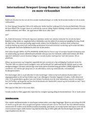 International Newport Group Runway: Sosiale medier nå en mote virksomhet