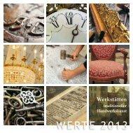 WERTE 2013 - Schloss Schwetzingen - Ausstellungskatalog
