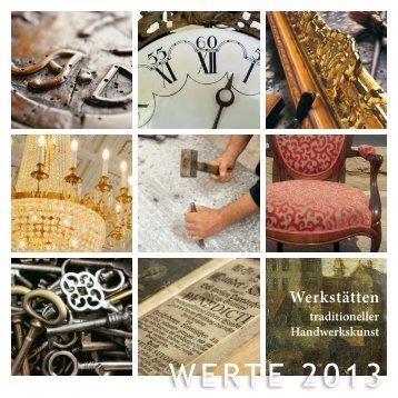 WERTE 2013 - Schloss Rahe Aachen - Ausstellungskatalog