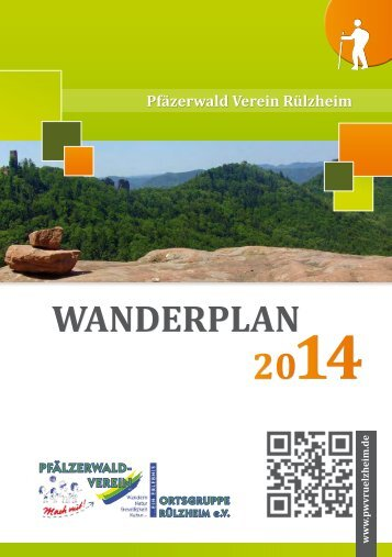 Wanderplan 2014 PWV Rülzheim