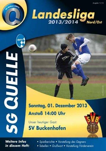 Stadionheft zum Spiel gegen den SV Buckenhofen
