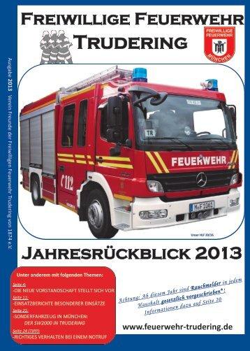 Jahresrückblick 2013 | Freunde der Freiwilligen Feuerwehr Trudering von 1874 e.V.