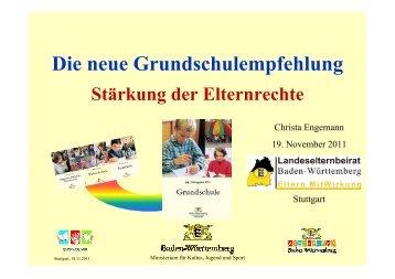 Die neue Grundschulempfehlung Stärkung der ... - Bilharzschule