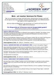 Pilotenausbildung & Seminare, Nordsee & Ostfriesland