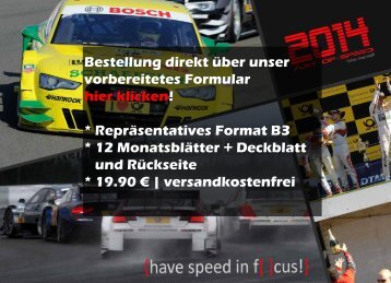 {have speed in focus!} Sonderausgabe - Kalender DTM 2014