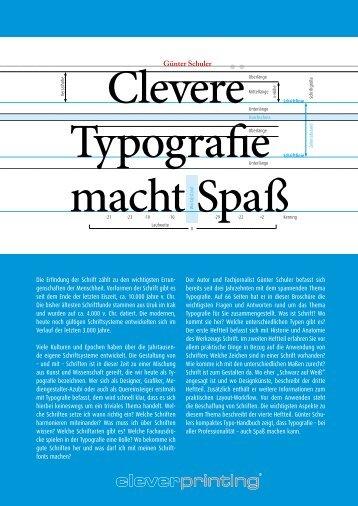 Cleverprinting: Clevere Typografie macht Spaß