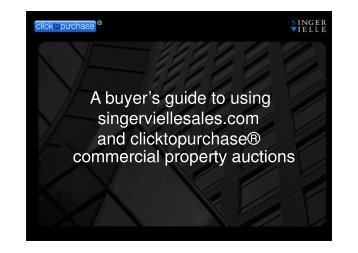 Commercial, Retail and Investment Property Sales Guide - Singer Vielle