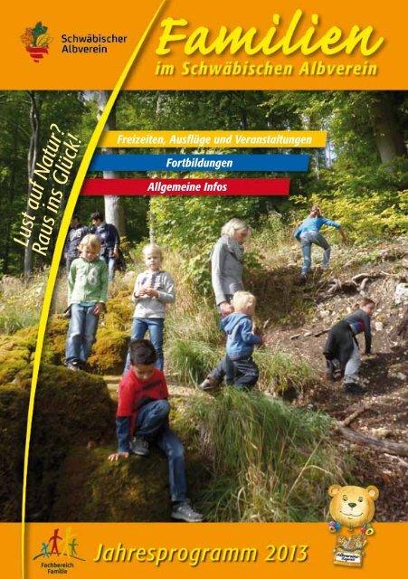 Familien-Programme 2013 im Schwäbischen Albverein.