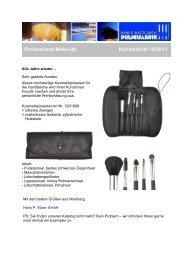 Kosmetikpinselset für die Handtasche - Kundenbrief 10/2013