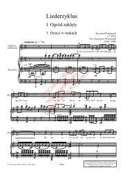 Krzysztof Penderecki, Liederzyklus, Klavierauszug