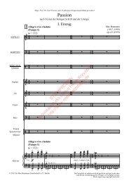 Max Baumann: Passion, Klöavierauszug