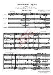 Claude Debussy: Drei kleine Stücke, Bearbeitung für Streichquartett