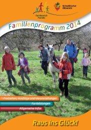 Familien-Programme 2014 im Schwäbischen Albverein.