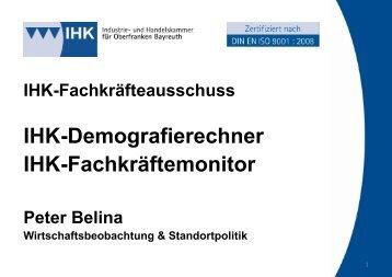 IHK-Demografierechner IHK-Fachkräftemonitor