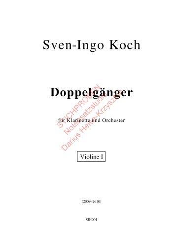 Sven-Ingo Koch, Doppelgänger, Violine 1