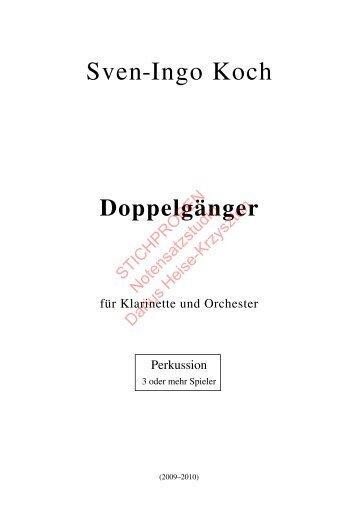 Sven-Ingo Koch, Doppelgänger, Perkussion