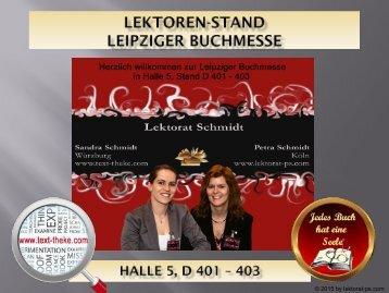 Lektorenstand Leipziger Buchmesse